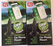 2 x Universal Car Windscreen Dashboard Holder Mount For Sat Nav PDA Mobile Phone