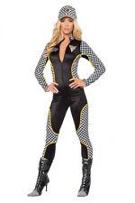 Racer Race Car Driver Costume Gr.32-34 S/M Overalls Suit Black Jumpsuit Pit Babe