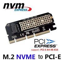 M.2 NVMe SSD to PCI-E 3.0 X16/X8/X4 Adapter for 1U/2U Server Low Profile PC