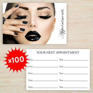 100 x Appointment Cards  Beauty Salon  Manicure Nails FREE Storage Box FREEPOST