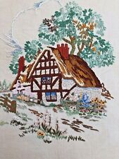vintage embroidery of a country cottage !
