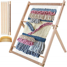Weaving Loom Multi-Craft Wooden Lap Weaving Loom DIY Hand-Knitted Machine Woven