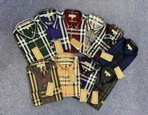 NWT Brand New Burberry  MEN'S Button up CASUAL Check shirt