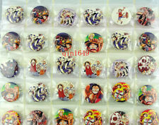 48Pcs/Lot ONE PIECE Cartoon Badges 30MM 3CM Button Pin Kid Patry Gifts Wholesale