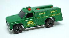 Vintage Redline Hot Wheels Truck Green Forest Service 1974 Mattel Hong Kong