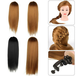 "24/26/30"" Salon Hair Training Head Hairdressing Styling Mannequin Doll + Clamp"