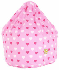 Large / Adult Teen Pink Hearts Bean Bag With Beans By Bean Lazy