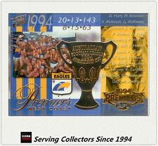 PC3- 2003 AFL XL Ultra West Coast 1994 AFL Premiership Commemorative Card