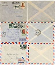 MADAGASCAR to SENEGAL + SOUTH AFRICA + INTERNAL...3 AIRMAIL ENVELOPES