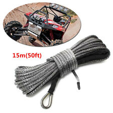 5000-5700lbs 50ft ×8mm Nylon Synthetic Fiber Winch Line Cable Rope Car ATV UTV