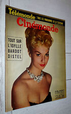 CINEMONDE 1958 CINEMA ACTEUR ACTRICE ESTHER WILLIAMS B. BARDOT DISTEL DEMONGEOT