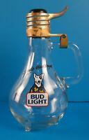 Vintage 1987 Spuds Mackenzie Bud Light Glass Stein Mug Collectible Budweiser