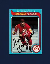 Guy Chouinard signed Atlanta Flames 1979 Topps hockey card