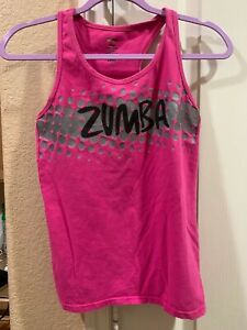 Zumba Large Tank top Racerback PINK Join the Party Used