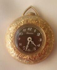 Vintage swiss made watch LUCERNE antimagnetic ladys pocket watch black face