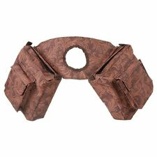 Tough-1 Western Horn Saddle Bag with Four Pockets Tooled Leather Print Brown