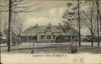 Westfield NJ Central RR Train Station Depot c1905 Postcard