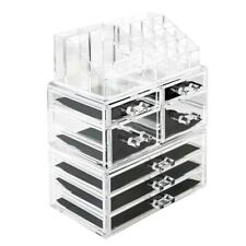 Thick Acrylic Makeup Cosmetic Case Organizer Drawer Divider Jewelry Display Box