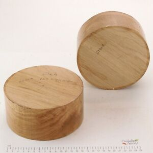 2 English Oak woodturning or wood carving bowl blanks.   155 x 75mm.   6290A