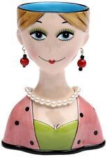 Dilly Dots Lady Vase Sugar High Social Ceramic NIB by Babs