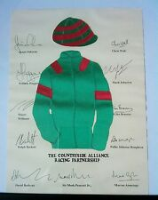 horse racing poster of the countryside alliance racing partnership.