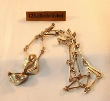 Wunderbares Lapponia Collier 925 Silber Finnland 1978 Kette Modernist / AZ 259