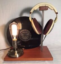 Support De Casque Audio Esprit-retro Hi-fi Haut De Gamme avec Lampe