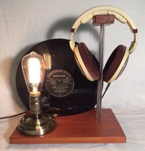 Support De Casque Audio Hi-fi avec Lampe rétro