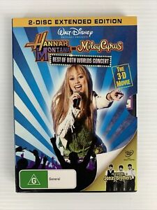 HANNAH MONTANA and Miley Cyrus BEST OF BOTH WORLDS CONCERT 3D DVD TRACKED POST