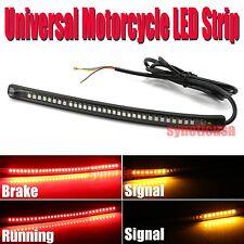 """Universal Motorcycle Light Strip Tail Brake Stop Turn Signal 32LED 8"""" Flexible"""