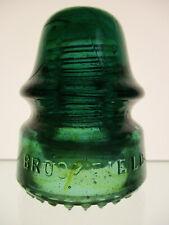 New ListingCrude Amber Swirled Cd 162 Brookfield With Sharp Drip Points Glass Insulator