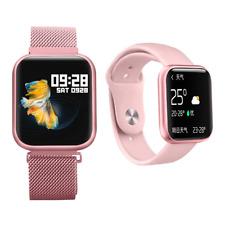 Smartwatch P80 Pulsuhr Magnetverschluss IPS Display IP68 Wasserdicht iOS Huawei