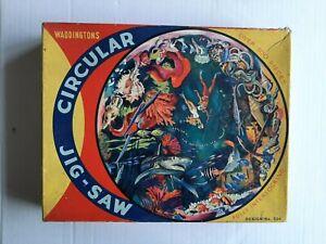 Waddingtons 'Exploring the Deep Blue Sea' circular jigsaw puzzle, early 1970s