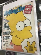 VINTAGE - ROLLING STONE MAGAZINE - No. 581 JUNE 28TH 1990 Bart Simpson NOS COOL