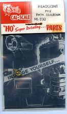 Original Cal-Scale HO HL-230 Headlight Pile Twin Sealbeam - NOS