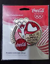2016 RIO BRAZIL 31st Summer Olympic Games COKE Athlete's Village Limited  pin
