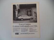 advertising Pubblicità 1976 LANCIA GAMMA