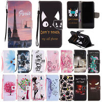 Magnetic Pattern Leather Wallet Stand Case Cover For Samsung Galaxy S8 S9 Note 9