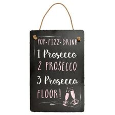 Prosecco Hanging Slate Plaque Sign Gift New Say It With Slate Range