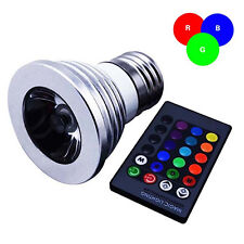 JN_ 9W E27 Color LED RGB Magic Light Bulb 16 Colors Changing W/ Wireless Remot
