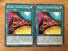 2 X Nagel's Protection Yugioh Trading Card EXFO-EN054 1st Edition Spell Card