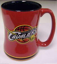 Cleveland Cavaliers Coffee Mug Relief Sculpted Team Color Logo  14 oz NBA