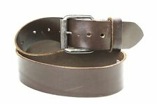 G23 Cisco Damen Gürtel 80 cm dickes Leder braun Jeansgürtel silberne Schnalle