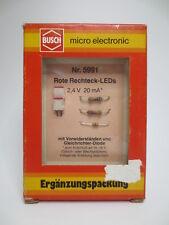 Busch 5991 Rote Rechteck-LEDs mit Vorwiderständen NEU & OVP CH10756