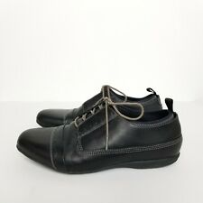 TSUBO Mens Black Leather Oxford Tie Shoes 8.5