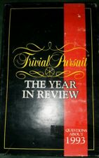 Board Game Trivial Pursuit The Year in Review 1993 Quiz Parket Bros~Complete