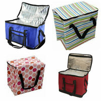 LARGE COOLBAG PICNIC CAMPING FOOD DRINK LUNCH INSULATED 60/48/16 CAN COOLER
