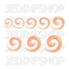 Ear Taper Stretcher - Spiral Snail | 1.6mm-10mm | Orange Transparent Acrylic