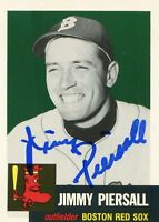 Jimmy Piersall Autographed Topps Archives 1953 Series Card