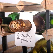 48x grand vin champagne balises avec feutre plastique cave rack réutilisable label